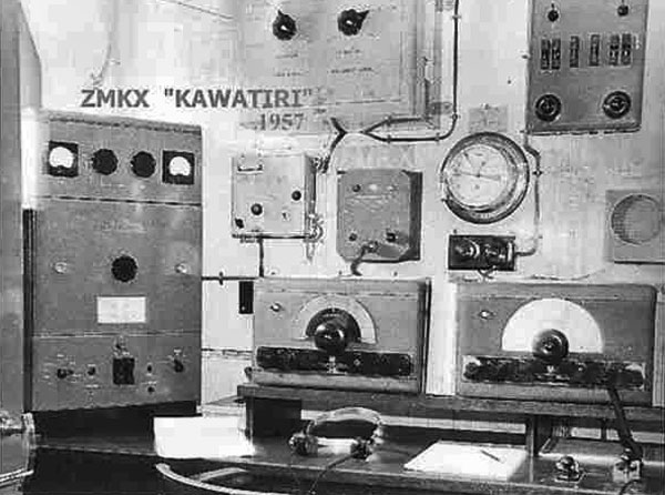 Radio equipment aboard Kawatiri - ZMKX