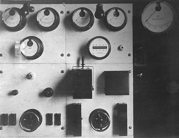 Part of the transmitter switchboard