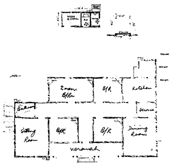Plan of Officers' Quarters, from original plans
