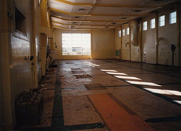 The empty transmitter Hall at the former Himatangi Radio