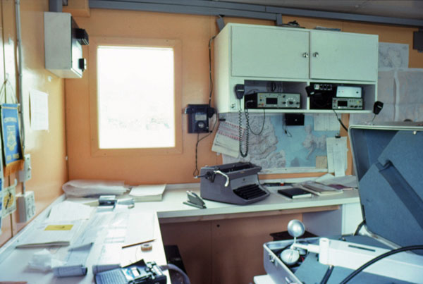 Radio room at Vanda Station during the 1988-1989 season