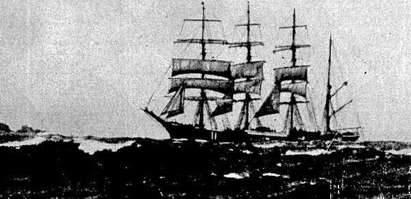 The Finnish four-masted barque Pamir entering Wellington Heads