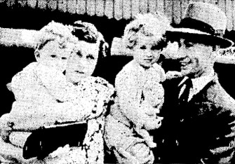 Mr C Clark, reunited with his wife and family in Wellington, 14 Jan 1941
