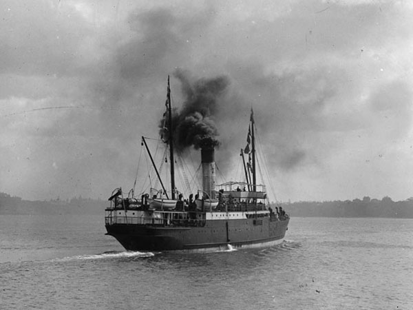 SS Manaia on Auckland harbour, date unknown