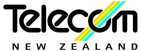 The first Telecom New Zealand logo