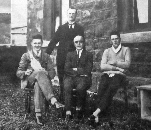 Staff at ZLW in 1926: Seated L-R: D McMahon, JD Hampton [sic - should be JH Hampton] (Supt), RMA Thompson. Standing: JF Sullivan