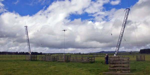 Broadband dipole antenna (A3) for DSC at Taupo Radio transmitter site