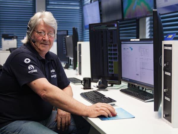 Allan Burgess at the Maritime Operations Centre – Taupo Radio, Nov 2017