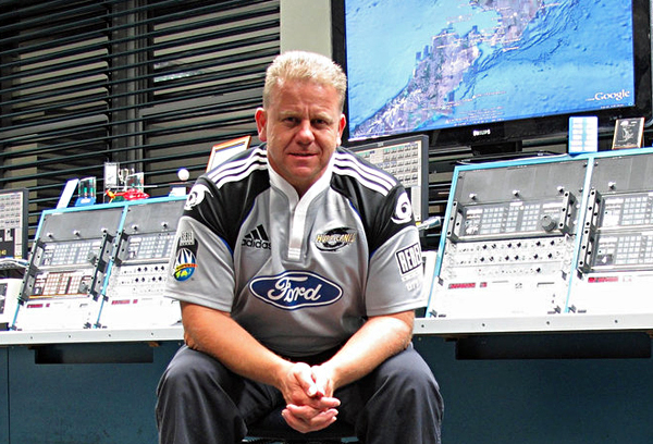 Radio operator Tony Graham at Taupo Maritime Radio ZLM in 2009