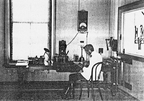 Operator working at Awanui Radio. Date unknown.