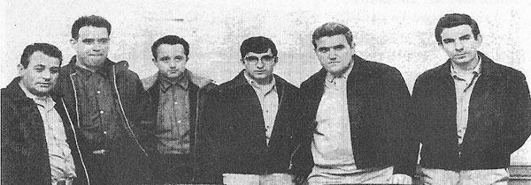 The six survivors of the Monte Palomares sinking