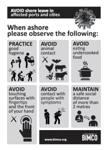 BIMCO - COVID-19 - Shore Leave Advice Poster