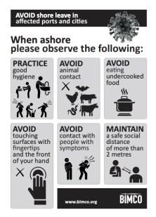 BIMCO - COVID-19 - Shore Leave Advice Poster