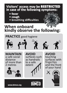 BIMCO - COVID-19 - When Onboard Advice Poster