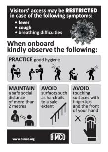 BIMCO - COVID-19 - When Onboard Advice Poster