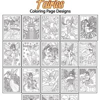 Fairy Coloring Pages AND More!