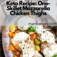 Keto Recipe: One-Skillet Mozzarella Chicken Thighs