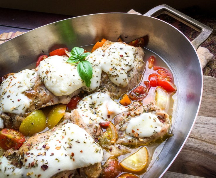 Keto Recipe: One-Skillet Mozzarella Chicken Thighs