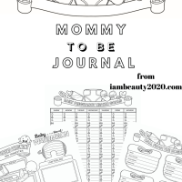 Get Your Journal for Mommy To Be - Prenatal Pregnancy Coloring Planner