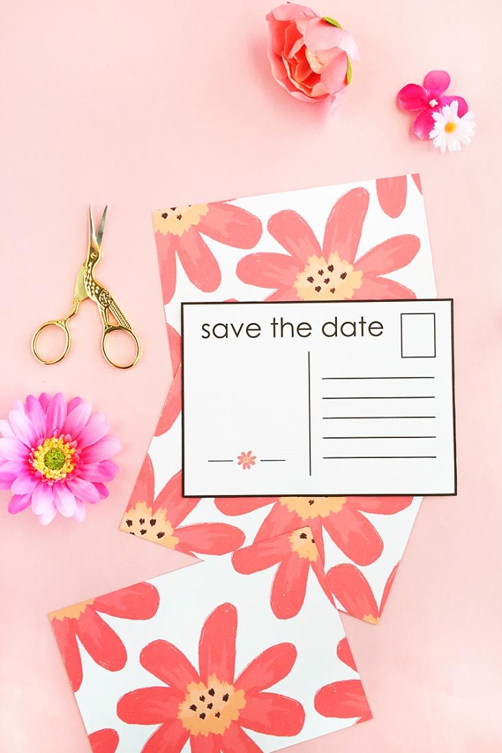 diy floral save the date postcardsmaritza lisa