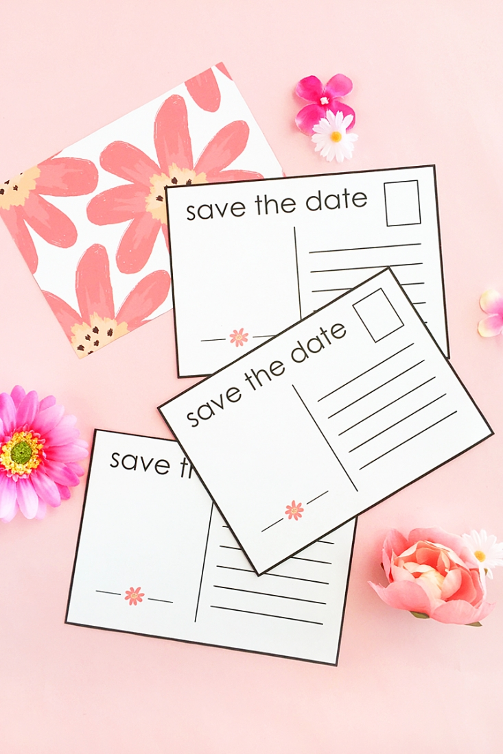 diy floral save the date postcards planning a wedding make your own save the