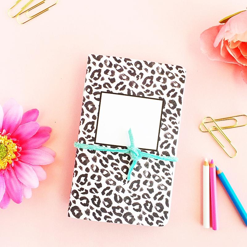 DIY Leopard Print Notebooks