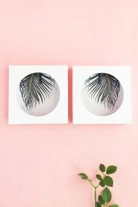 DIY Circle Framed ArtMaritza Lisa