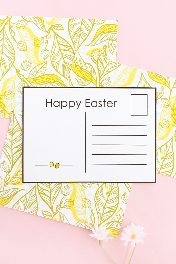 graphic regarding Printable Postcards Free referred to as Do-it-yourself Easter Postcards (Free of charge Printable)Maritza Lisa