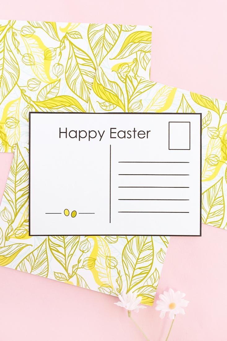 photo regarding Printable Postcards Free identified as Do-it-yourself Easter Postcards (Totally free Printable)Maritza Lisa