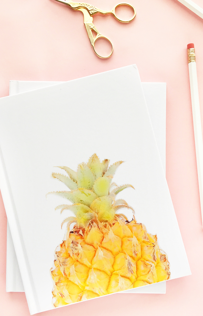 DIY Pineapple Notebook By Maritza Lisa For The House Of Wood