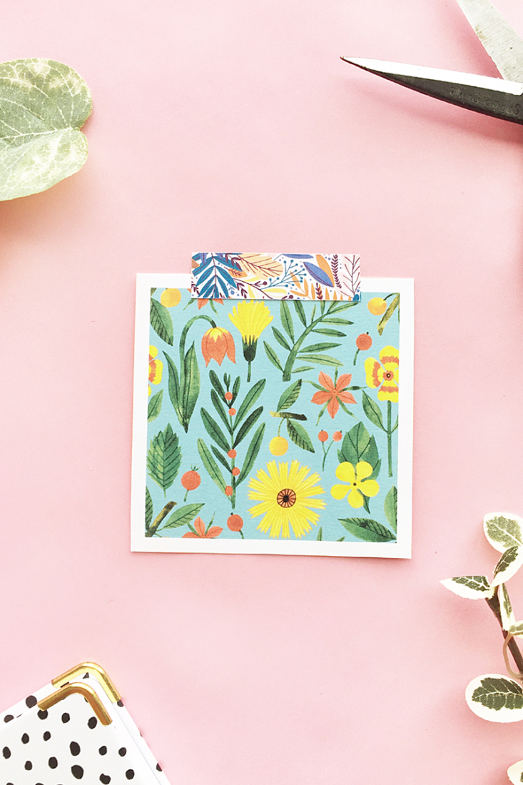 DIY Leaf Patterned Decorative Tape on Maritza Lisa - Make your pretty decorative or washi tape with this easy tutorial. Click through for details! #diy #tutorial #crafts #stationery #washi