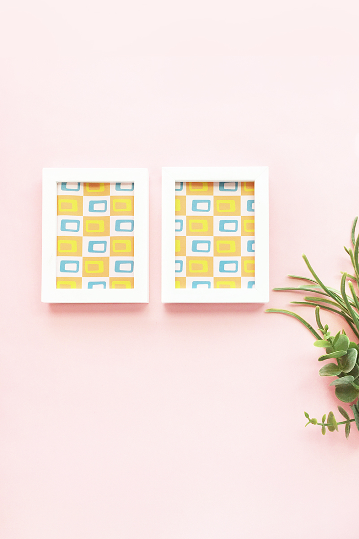 DIY Retro Artwork on Maritza Lisa: Design your own retro mid-century modern patterns with this font! Click through for the quick and easy tutorial!