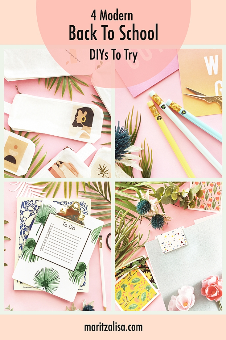 4 Modern Back To School DIYs To Try - Tutorials on how to make modern stationery for school, your desk or office! #diy #crafts #tutorial #backtoschool #backtoschooldiy #school #office #diyStationery