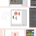 Diy Moon Phase Art With Silhouette Studio Maritza Lisa