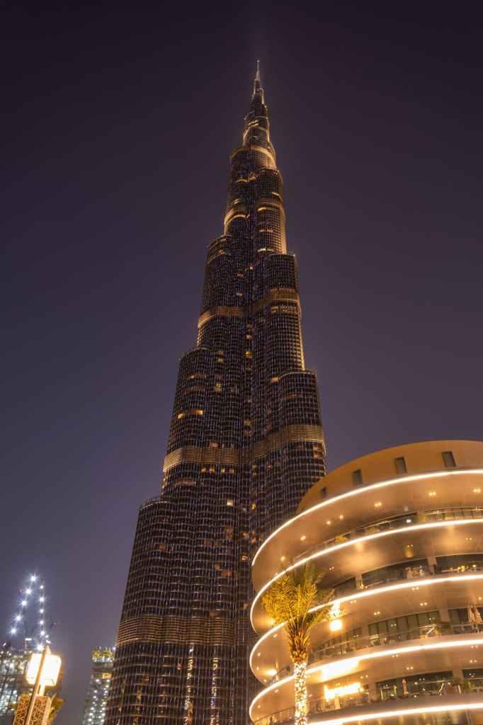 Burj Khalifa - Dubai - noaptea - Dubai-Fantanile de la Burj Khalifa-foto-video