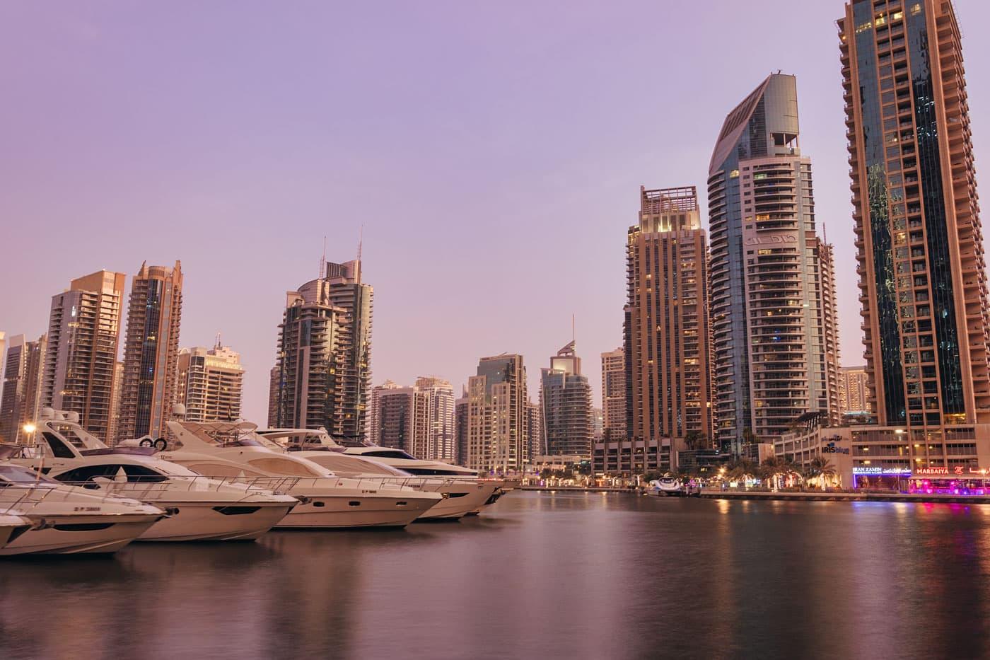 Dubai Marina - seara