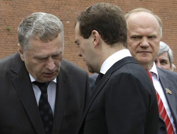 Лидеры российский партий встретятся с Дмитрием Медведевым