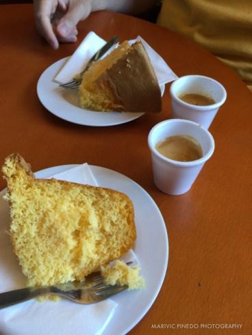Espresso and cake.
