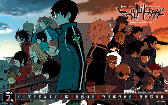 Poster World Trigger anime yang paling underrated