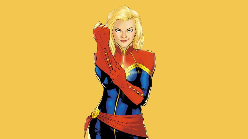 cover Carol Danvers sebagai Captain Marvel