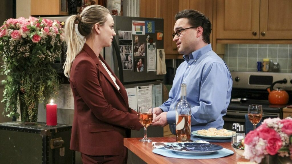 Leonard dan Penny dalam The Big Bang Theory