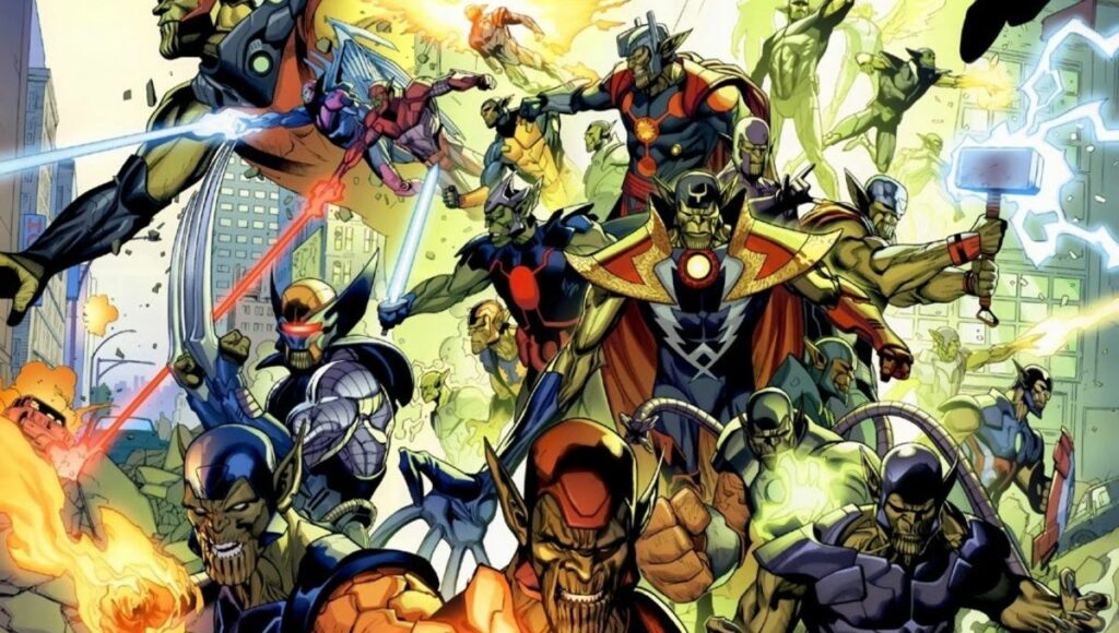 adegan Secret Invasion dalam komik Marvel