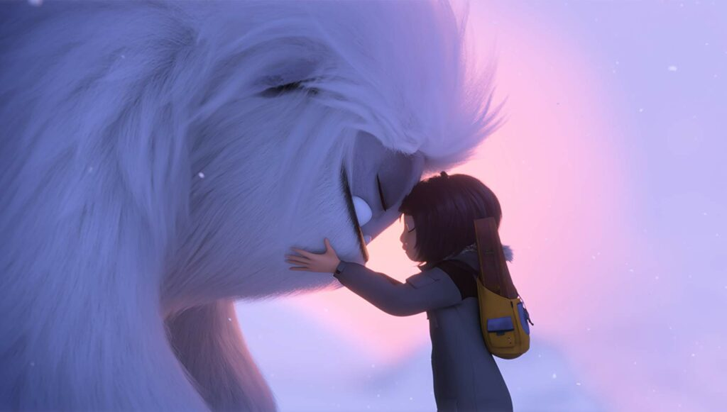 Yi dan Everest dalam film Abominable
