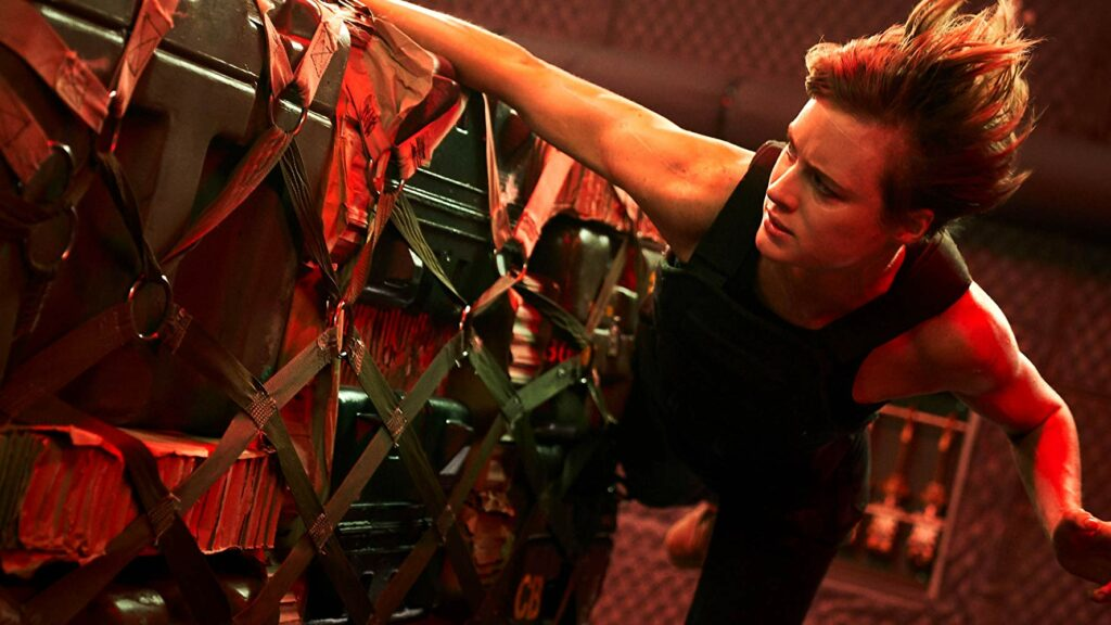 Mackenzie Davis dalam film Terminator: Dark Fate