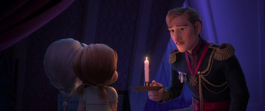 Anna dan Elsa kecil bersama ayahnya, review film frozen 2
