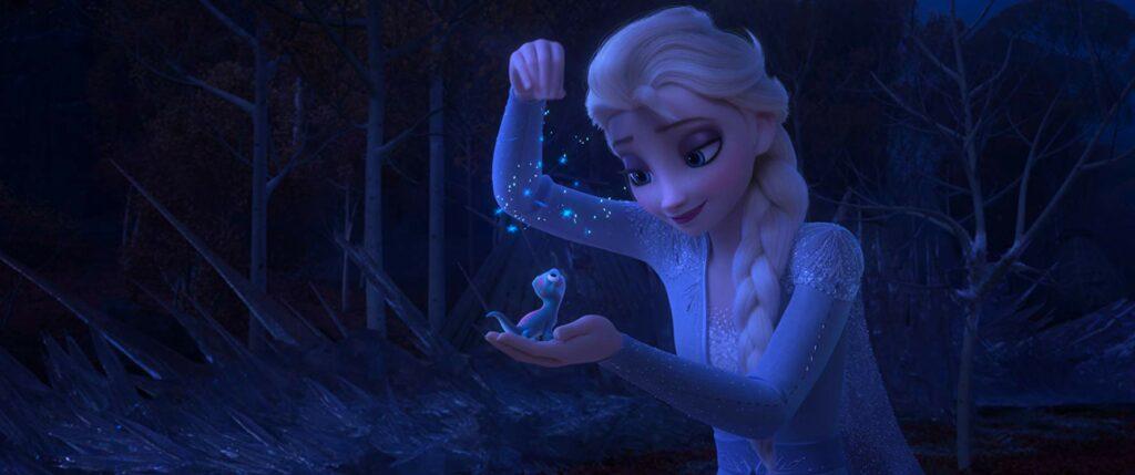 Elsa bersama makhluk roh api