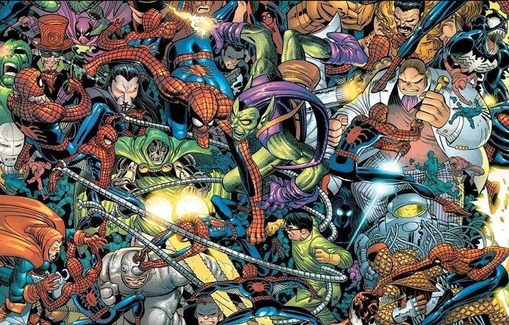 cover penjahat dalam komik Spider-Man