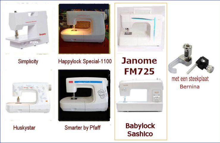 punchmachines Janome Babylock Huskilock, Pfaff, Janome