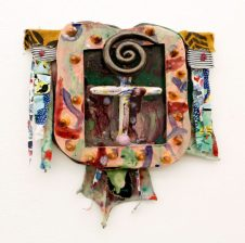 "Melvino Garretti Title: Untitled Medium: Ceramic and Fabric Size: 15"" x 17"" Retail value: $1200"