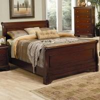 Versailles Queen Sleigh Bed in Deep Mahogany | Marjen of ...